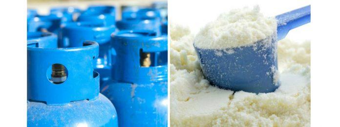 Gas and Milk powder - Gas - මිළ වැඩි කරන්න ඉල්ලීම් කරන භාණ්ඩ මෙන්න – ගෑස් සහ කිරිපිටි ඒ අතර