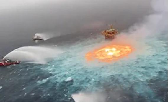 Fire in Sea - මහ සයුර මැද හටගත් ගින්න (වීඩියෝ)