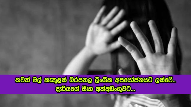 Sexual Abuse - තවත් මල් කැකුළක් බරපතල ලිංගික අපයෝජනයට ලක්වේ.. දැරියගේ සීයා අත්අඩංගුවට...